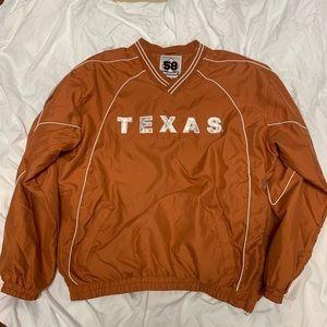 Texas Long Horns 58 sports Windbreaker Pullover